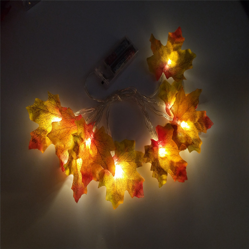 Halloween LED light string 1.5M 10LED Lighted Fall Autumn Pumpkin Maple Leaves Garland Thanksgiving Decor Dropshipping #F#30OT12 (7)