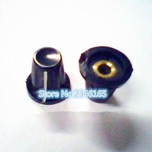 10 шт., бакелитовая ручка потенциометра, отверстие: 4 мм для потенциометра WH5, WXD3-13