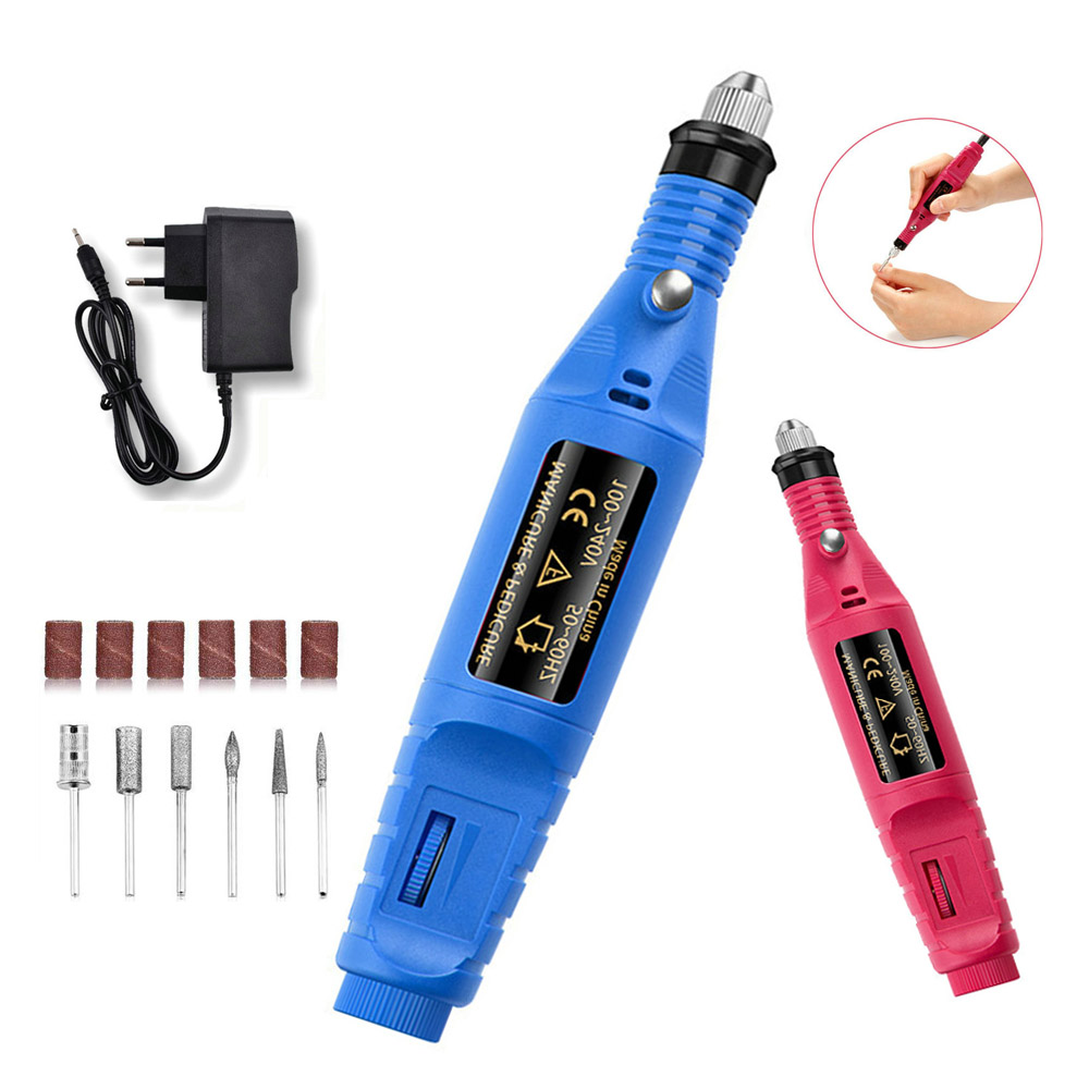 Electric Nail Drill Bits Milling Cutter Manicure Machine Apparatus For Pedicure Manicure Mill Cutter Nail Art Sanding File Tools in Electric Manicure Drills from Beauty Health