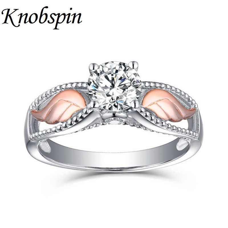 Trendy Angel Wing Shape Ring for Women Elegant Cubic Zirconia Finger Ring Fashion Wedding Engagement Anniversary Jewelry bague