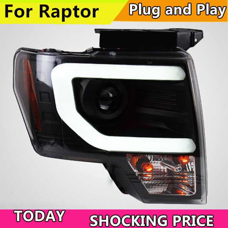 Car styling LED HID Rio LED headlights Head Lamp case for Ford Raptor F150 2008 2014
