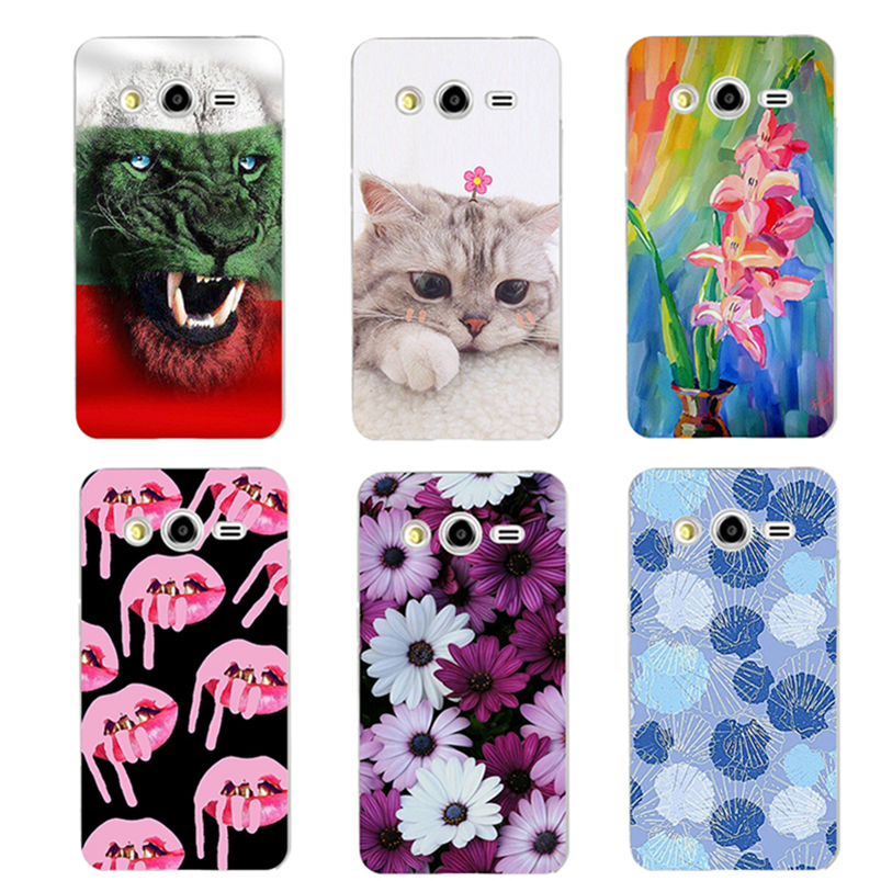 print cartoon Covers for Samsung Galaxy Grand 2 Duos G7102 sm-g7102 G7106 G7108 G7109 Case soft silicone Back Cover Phone Cases image