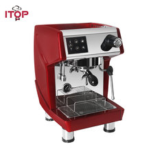 ITOP Professional Red/Black Coffee Maker Machine 15 Bar Milk Foam Cappuccino Latte Espresso 220V