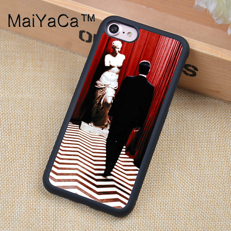 MaiYaCa Twin Peaks Mobile Phone Cases For iphone 6 6s Back Shell Bags Cover Rubber Soft TPU Edge Fundas