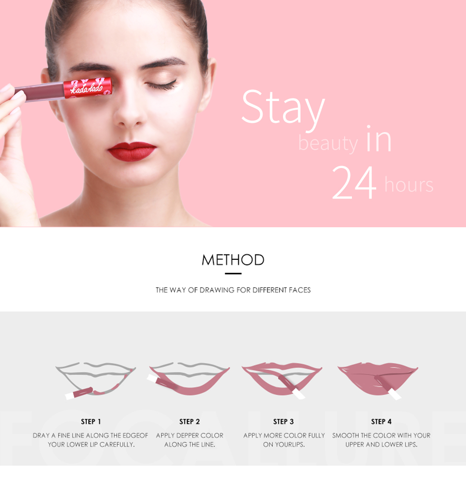 HTB12E5yhbYI8KJjy0Faq6zAiVXa4 KADALADO Brand Make Up Waterproof Nude Lipstick Long Lasting Liquid Matte Lipstick Kit Lip Gloss Cosmetics Lipgloss Lip Makeup