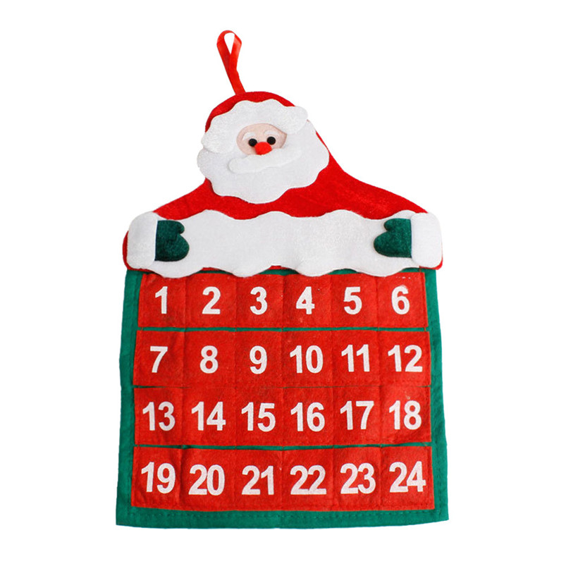 Christmas Mini Santa Claus Calendar 2019 Merry Christmas Decorations Xmas Ornament Home Family Pendant #4n06#f (4)