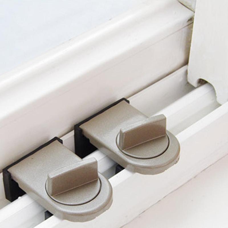 Sliding Sash Stopper Cabinet Locks Straps Anti-Theft Lock Window Sliding Door Child Security Doors Lock Kids Baby Safety Lock