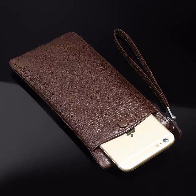 Pochette pour téléphone portable en cuir de vachette véritable pour Xiao mi Red mi Note 4X, mi 5 s Plus, Oneplus 6, Oneplus 5/5 t, Oneplus 3 t