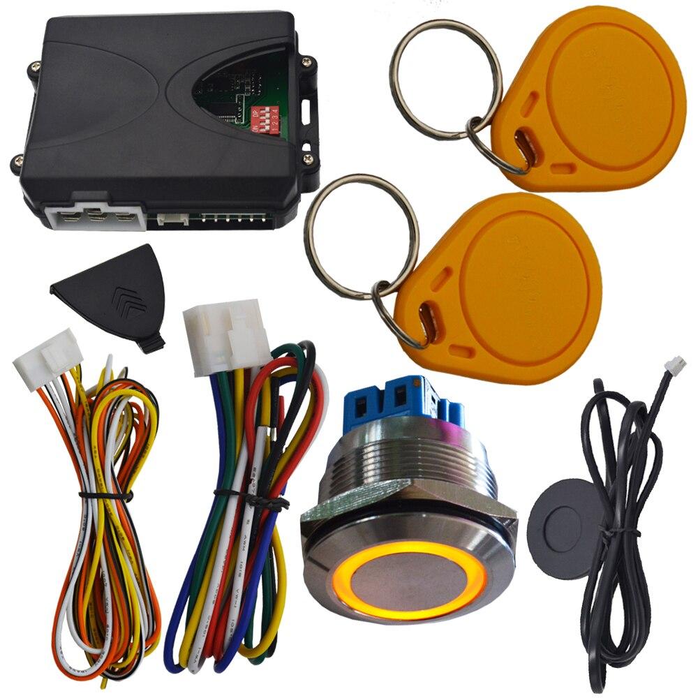 Système d'alarme auto invisible pour voiture protection anti-démarrage rfid bouton d'arrêt étanche sortie de contournement pour voiture à puce - 2