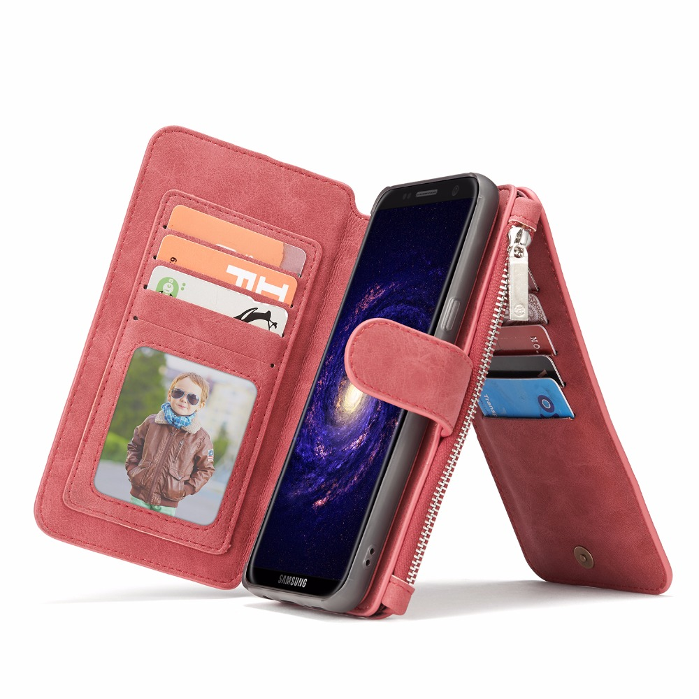 imágenes para CaseMe Para Samsung Galaxy S8 Más Retro de Cuero Casos Tirón de la Carpeta Con Las Ranuras para Tarjeta Capinha Coque Cajas Del Teléfono Magnética