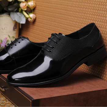New casual men shoes pointed formal leather real wedding high quality lace up business footwear