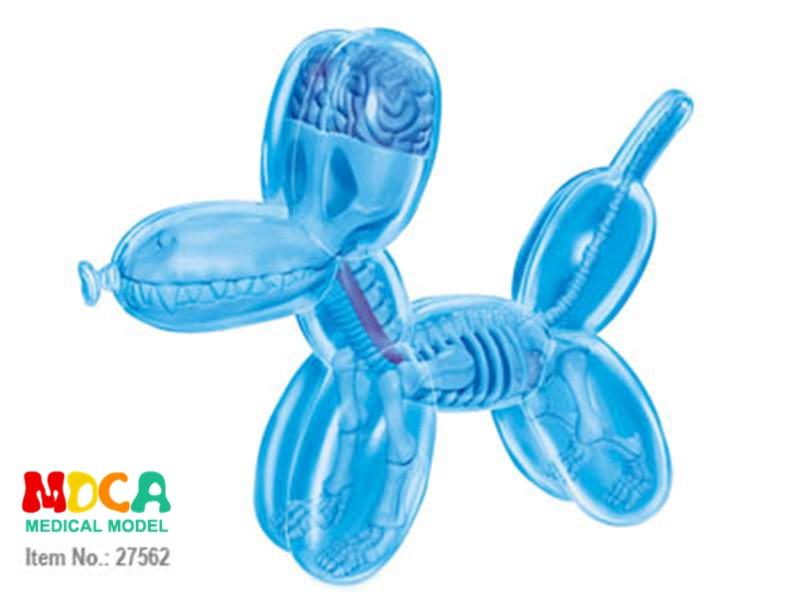 Mini Globo Azul perro 4d maestro rompecabezas perspectiva hueso ...