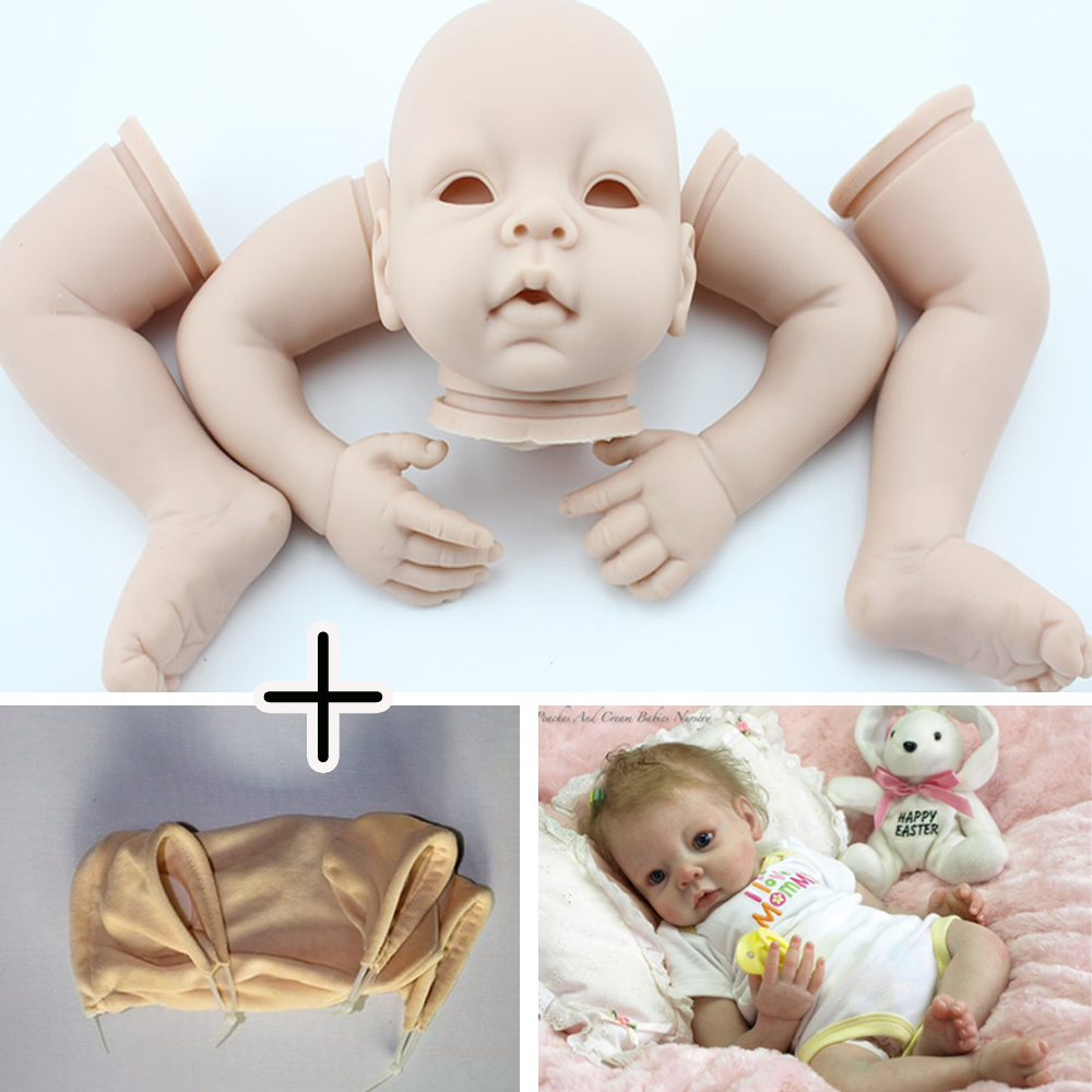 18/'/' Doll Cloth Body /& Vinyl Reborn Doll Baby Unpainted Body Limbs DIY Kits