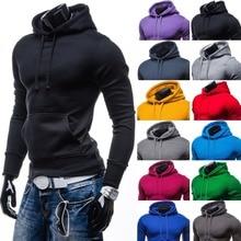 ZOGAA Hot 8 Color Men Hoodie Sweatshirt Solid  Long Sleeves Pocket Hip Hop Autumn and Winter