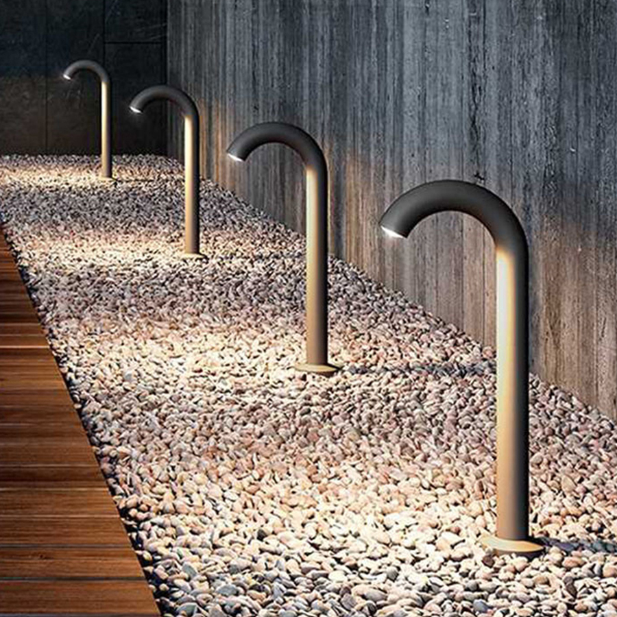 Thrisdar Outdoor Garden Water Faucet Light Landscape Pathway COB Lawn Spotlight Courtyard Villa Aluminum Pillar Bollard Light