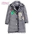 Pettigirl otoño de pata de gallo niña abrigos con reloj patten capucha abrigos niños moda abrigos chica chaquetas g-dmoc908-858