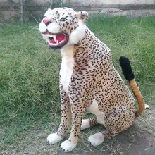 Simulation Leopard polyethylene&furs Leopard model funny gift about 72cmx25cmx72cm