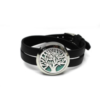 Tree Design Silver Aromatherapy Diffuser Locket Bangle 30MM Twist Off Locket Bracelet Essential Oil Diffuser Locket