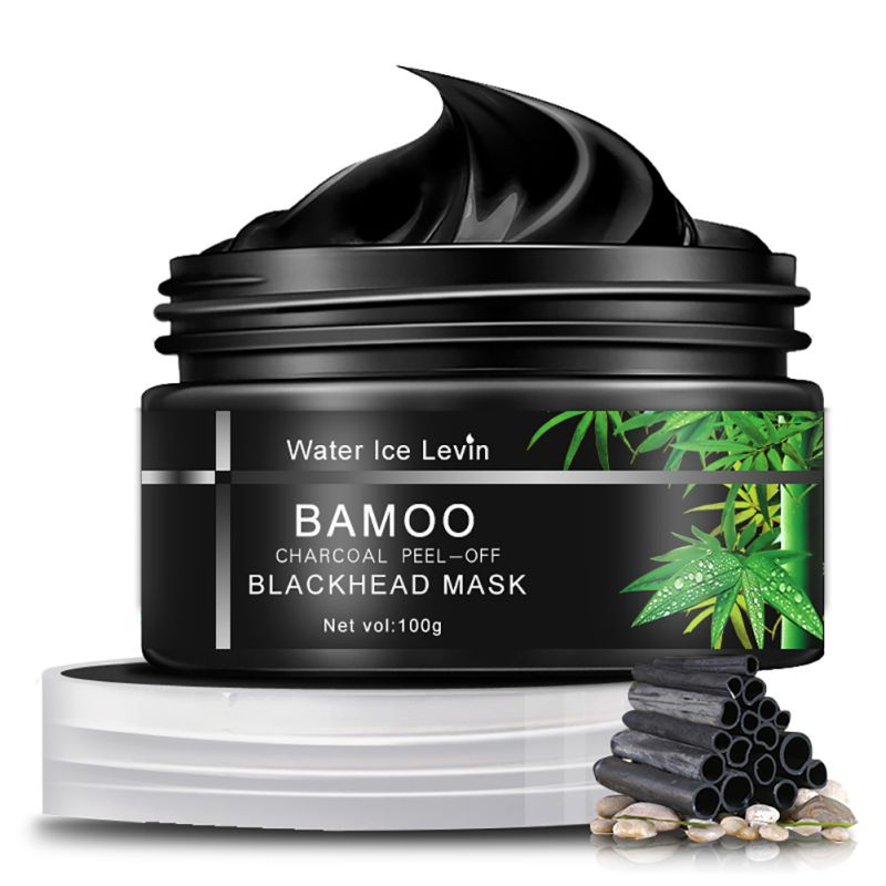 Face Skin Care Black Mud Bamboo Charcoal Mask Blackhead Remover Deep Clean Peel Off Mud Masks dr rashel hot selling black mud magnetic face mask skin care collagen blackhead remover magnet facial mask