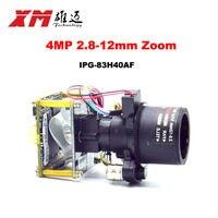 XM Original H 265 4 0MP 2 8 12mm Motorized Zoom Auto Focal LEN 1 3