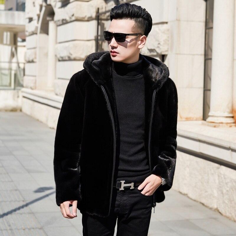 Real Fur Coat 2019 Natural Mink Fur Coat Winter Jacket Men Real Shearling Warm Outwear for Mens Clothing Veste Homme N-22 YY738(China)