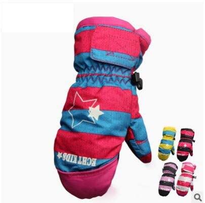 GLV801 children ski winter font b gloves b font keep warm Outdoor cycling font b gloves