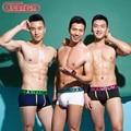 New asianbum men's boxer underwear silver ion antibiotic panties trunk low-waist sexy boxer 3 colors