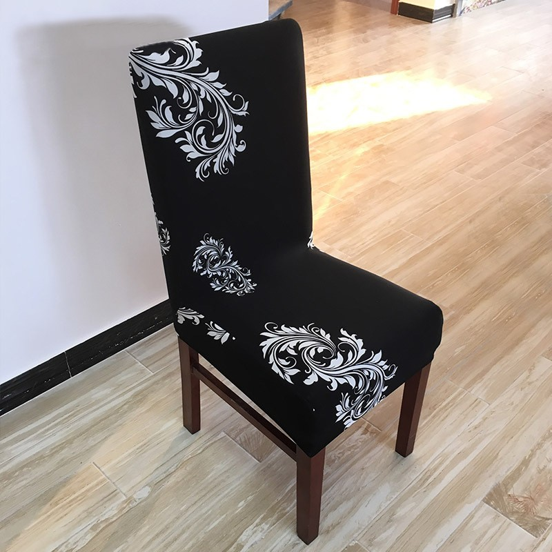 Aliexpress Buy 1PCS Printing Spandex Elastic Dining Chair Cover Antifouling Washable Short Protector Covers For Restaurant Room From