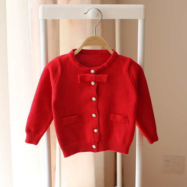 Spring and autumn new style baby girls cardigan sweater children sweater kids fashion pretty cute sweater