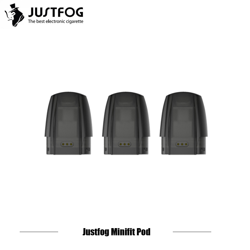 3/6/9/12/15pcs JUSTFOG MINIFIT Pod 1.5ml Tank 1.6ohm Organic Cotton Coil E Cigarette Refillable Cartridge For Minifit Kit Vape