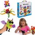 2017 Magic Puffer Bola 400 Peças Acessórios Construir Mega Pack Animais DIY Montagem Spot Melhor Bloco de Conjuntos de Brinquedos Para Crianças