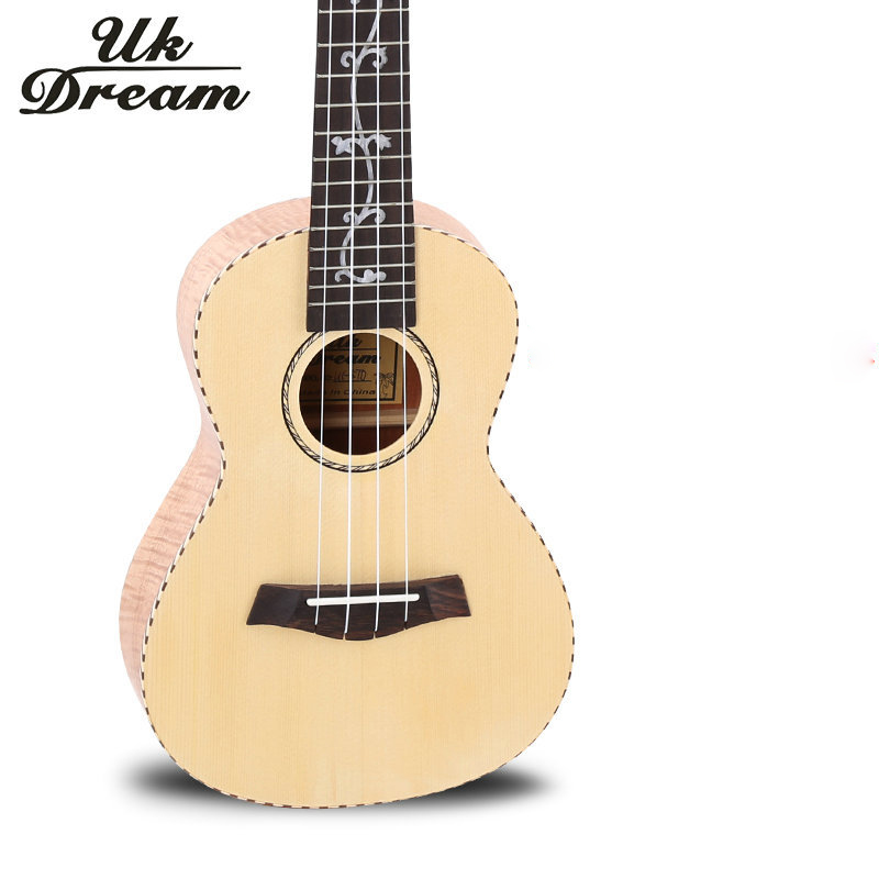 23 Inch Acoustic Guitar Ukulele 18 Frets Musical Instruments Four Strings Spruce Okoume Veneer mini Classic Guitars UC-57D