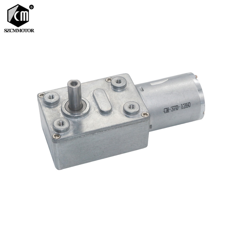 все цены на Wholesale 10pcs Worm Geared Motors 6v-24v Low Speed 2RPM-150RPM Speed Reduction High Torque Turbo Worm Gear Motor JGY370 онлайн