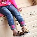 Kinderkleidung 2016 frühling und herbst madchen jeans, Kinder Buchstaben dunn hosen babyhose