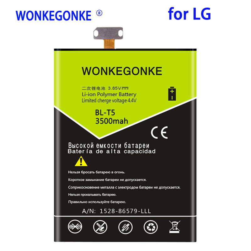 WONKEGONKE 3500mah BLT5 <font><b>Battery</b></font> for <font><b>LG</b></font> Nexus <font><b>4</b></font> <font><b>Battery</b></font> E975 E973 E960 F180 LS970 for Optimus G E970 BL-T5 Phone <font><b>Batteries</b></font> image