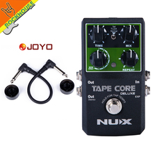 цена на NUX Tape Core Deluxe Echo Delay Guitar Effect Pedal delay effects guitarra stompbox Digital Delay True Bypass free shipping