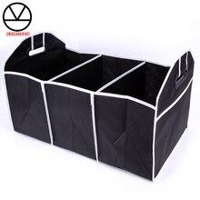 Storage-Bag Interior-Holders Car-Multi-Pocket-Organizer KAWOSEN Tidying Trunk Black HDTO04