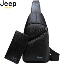 JEEP BULUO Mens Chest Bags Big Brand Man Crossbody Shoulder Bag For Young College Students Casual Men Sling High Quality
