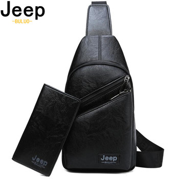 JEEP BULUO Men's Chest Bags Big Brand Man Crossbody Shoulder Bag For Young College Students Casual Men Sling Bags High Quality