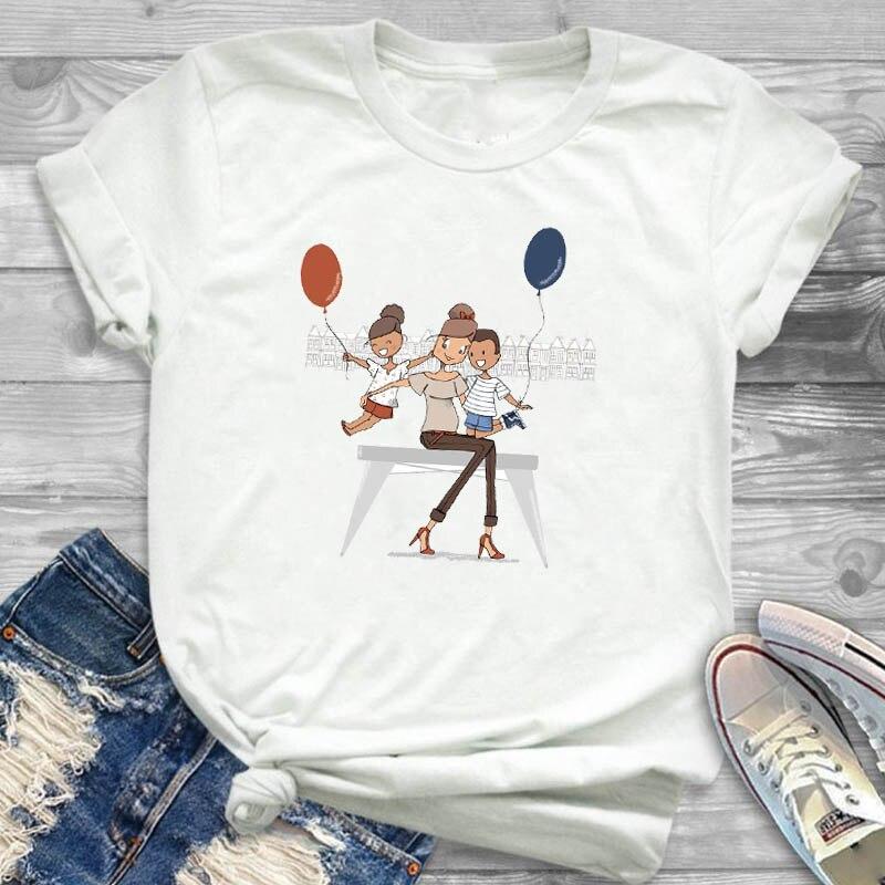 Women Shirt Ladies Female T Womens Mom Life Boy Girl Cute Fashion T-shirt Graphic Short Sleeve Summer Printed Top Tshirt