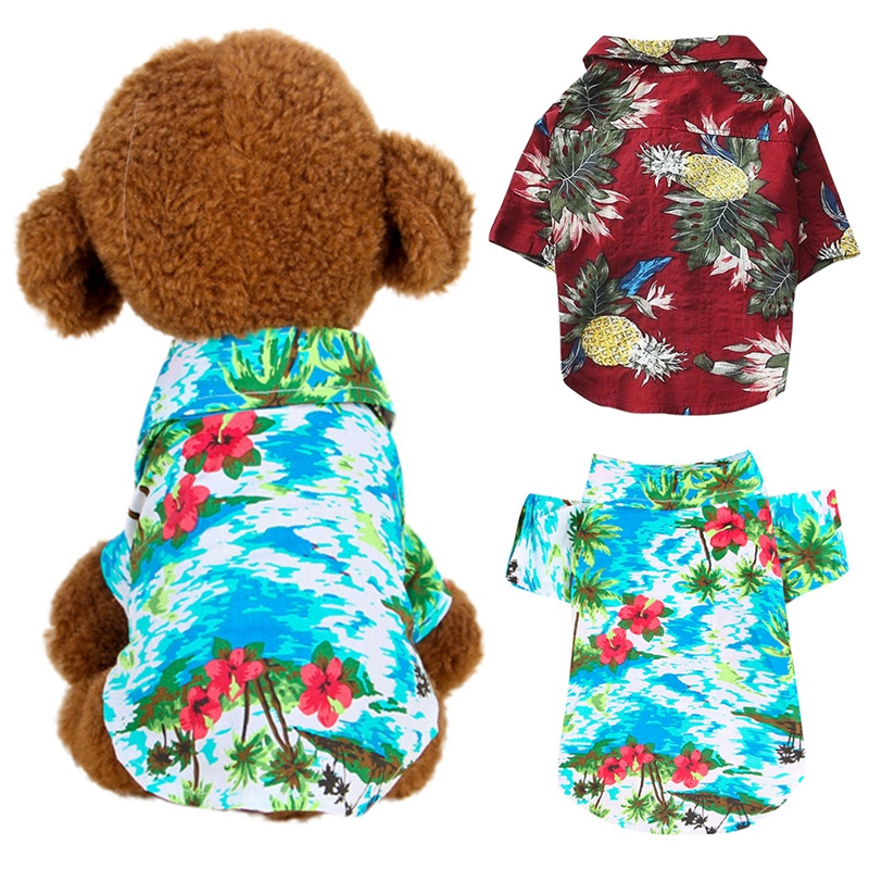 Dog Shirts Cotton Summer Beach Vest Short Sleeve Summer Beach Vest Short Sleeve font b Pet