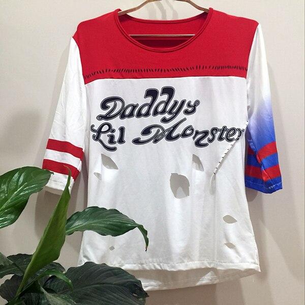 Batman Arkham Asylum City Suicide Squad Harley Quinn T-shirt ~Daddy's Lil Monster Shirt Costume Cosplay Halloween Joke
