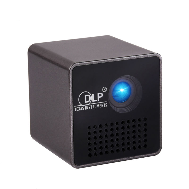 UNIC P1+Wifi Mini Projector Wifi Built-in Battery with TF slot 3.5mm Earphone Home Theater Cinema Pico Portable video beamer unic p1 p1h dlp projector 30 ansi lumen mini tiny handheld pocket proyector built in battery home cinema theater beamer usb tf