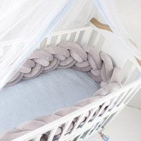 Newborn Baby Bed Bumper Tour De Lit Bebe Tresse Baby Cot Bumper / Bumpers In The Crib Baby Bumper Braid Bed Nodic Knot Baby Room