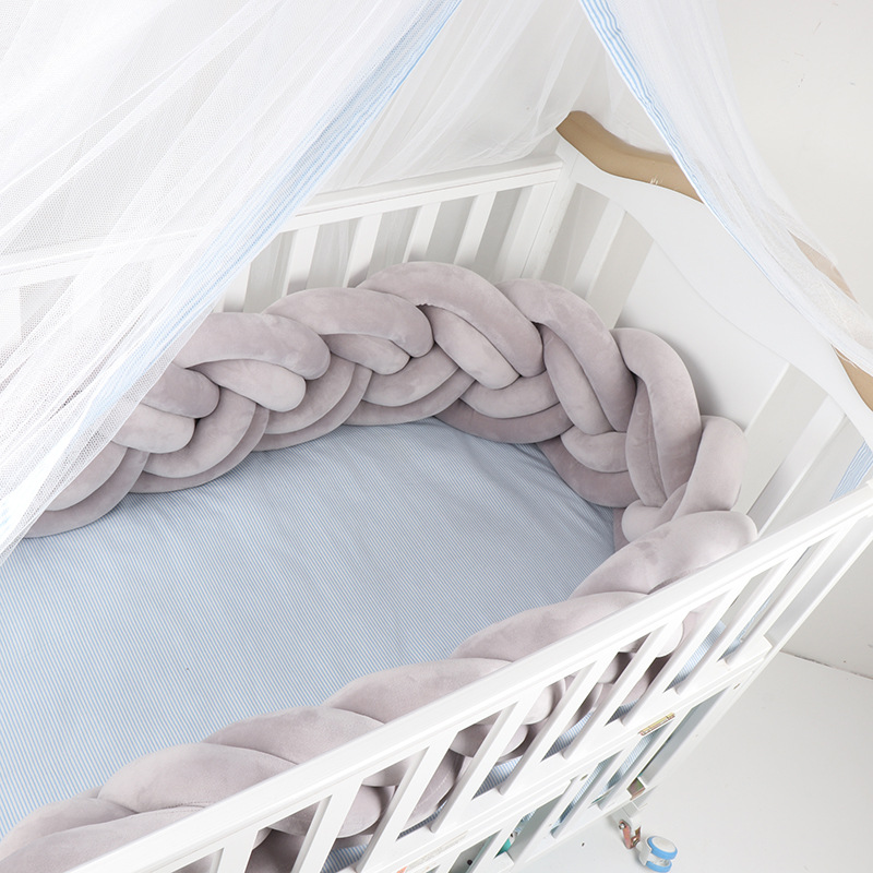 US $21.41 30% OFF|Newborn Baby Bed Bumper Tour De Lit Bebe Tresse Baby Cot  Bumper / Bumpers In The Crib Baby Bumper Braid Bed Nodic Knot Baby Room-in  ...