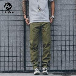 HZIJUE мужские брюки карго Летний комбинезон плюс размер 30-36 мешковатые армейские зеленые брюки для рабочего человека свободные фитнес хаки