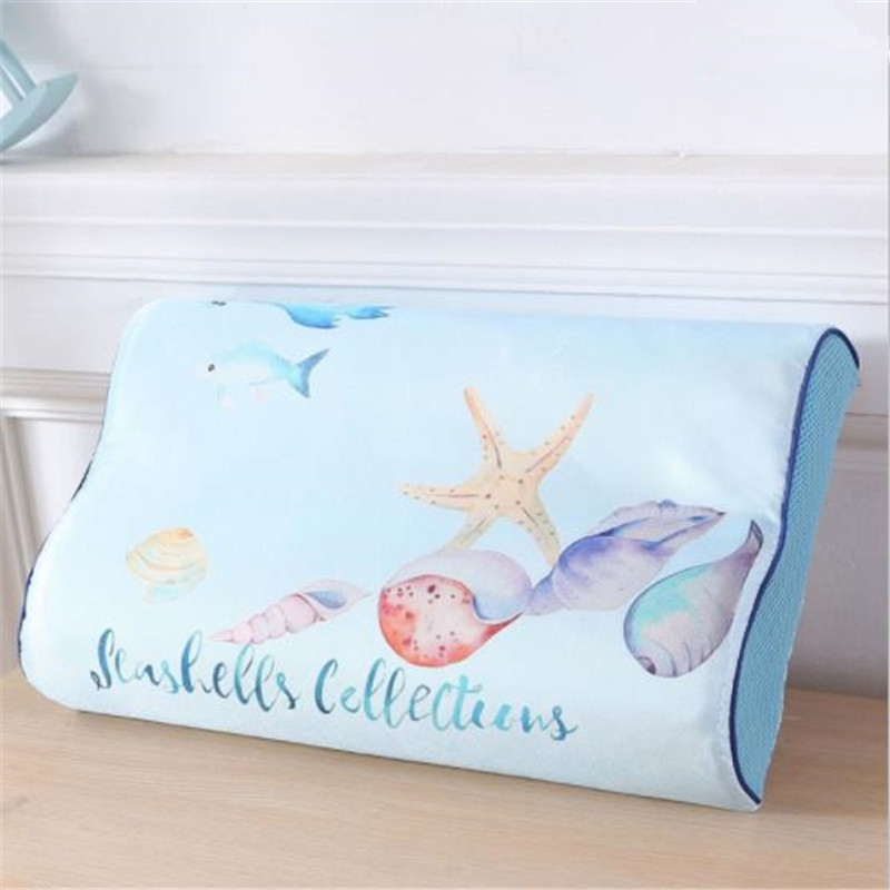 hot selling Latex Pillow Pillow Case Single Only Dress Memory Pillow Case <font><b>50x30</b></font> Children Student A Towel high quality fashion image