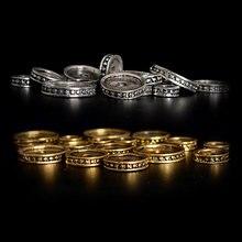50 шт/лот металлические плоские золотистые/Серебристые бусины