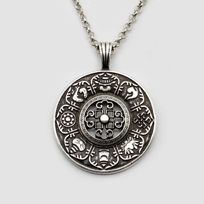 10pcs The Auspicious Tibetan Symbols Pendant Vintage Mandala