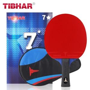 Image 3 - Tibhar פרו טניס שולחן מחבט להב גומי פצעונים פינג פונג מחבטי באיכות גבוהה עם תיק 6/7/ 8/9 כוכבים
